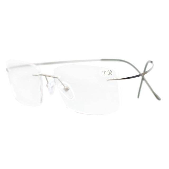 a0757b344a0f R1509 Eyekepper Titanium Rimless Reading Glasses Readers Men  +0.0 0.5 0.75 1.0 1.25 1.5 1.75 2.0 2.25 2.5 2.75 3.0