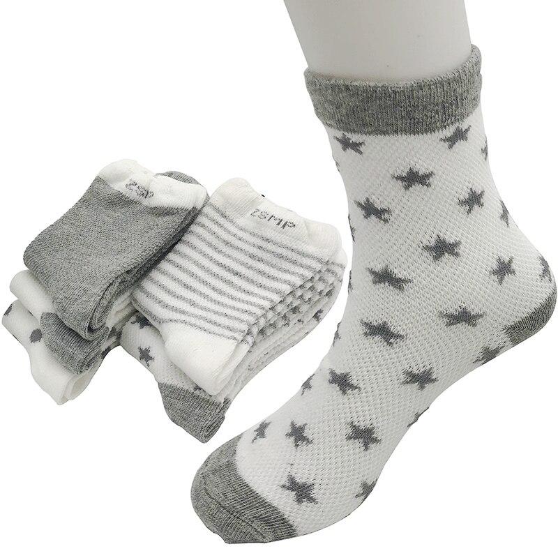 Socken 5 Paare/los Baby Socken Frühling & Sommer Baumwolle Süßigkeiten Männlichen Weibliche Bequeme Breathable Kinder Jungen Mädchen Socken 0-6 Jahr Kinder Eine VollstäNdige Palette Von Spezifikationen