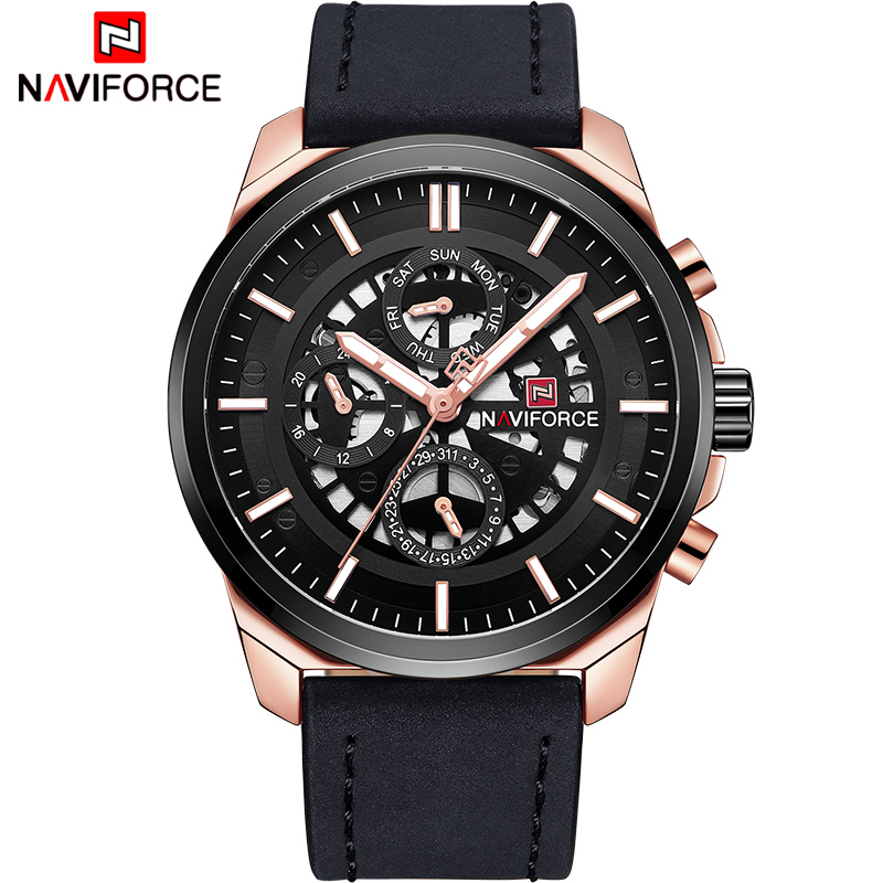 NAVIFORCE Luxury Men Fashion Casual Sport Watches Men's Date Quartz Wrist Watch Male 24 Hour Military Clock Relogio Masculino цена
