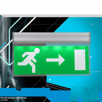 customize pattern Buyer provides text Acrylic stop sign, fire emergency light, safety exit, evacuation indicator light