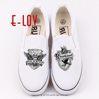 Woman Fashion 3D Galaxy HOGWARTS Canvas Shoes Harry Potter Hogwarts Deathly Hallows Printed Casual Shoes Lady