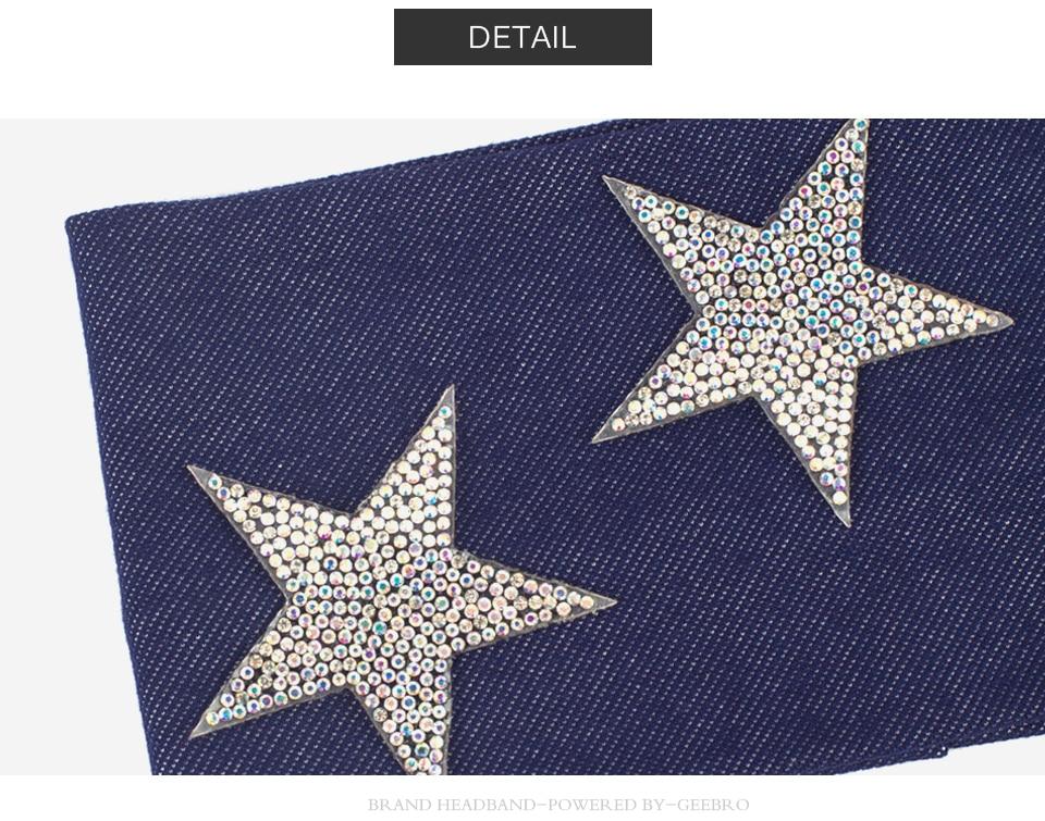 Estrela Strass Turbante Do Cabelo Faixa de Cabelo Da Mulher