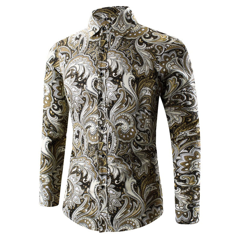 4c9133402bef 2017 Retro Floral Printed Man Casual Shirts Fashion Classic Men Dress Shirt  Breathable Men's Long Sleeve Brand Clothing-in Casual Shirts from Men's  Clothing ...