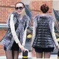 Venta caliente de las mujeres de Piel Falsa chaleco Chaleco sin mangas de prendas de Vestir Exteriores Más Tamaño Faux Fur Coat Envío Libre 10