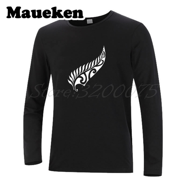 931347416f Men Autumn Winter New Zealand Fern Rugbying shirt T-Shirt Long Sleeve Tees  all W1120203