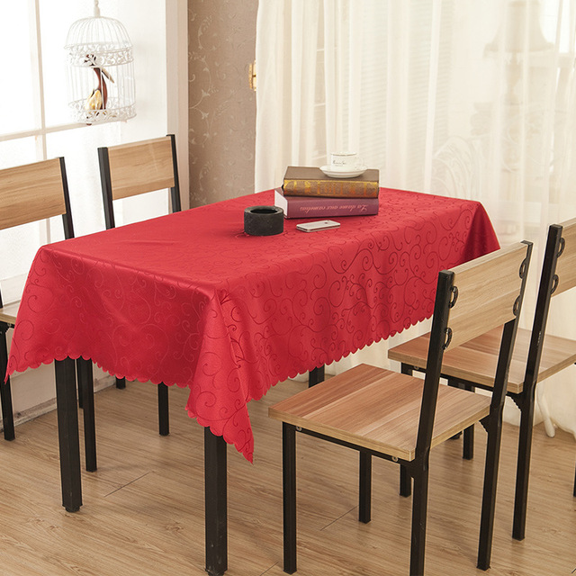 High Quality Fabric Rectangular And Round Table Cloth Machine Washable  Tablecloth Home Hotel Banquet Party Decoration