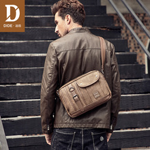 DIDE Fashion PU Leather Crossbody Bags Business Men Casual Messenger Bag for Travelling Vintage Male Coffee Shoulder
