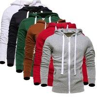 Hoodies Men 2017 Brand Male Long Sleeve Hoodie Solid Lovers Sweatshirt Mens Cardigan Moletom Masculino Hoodies