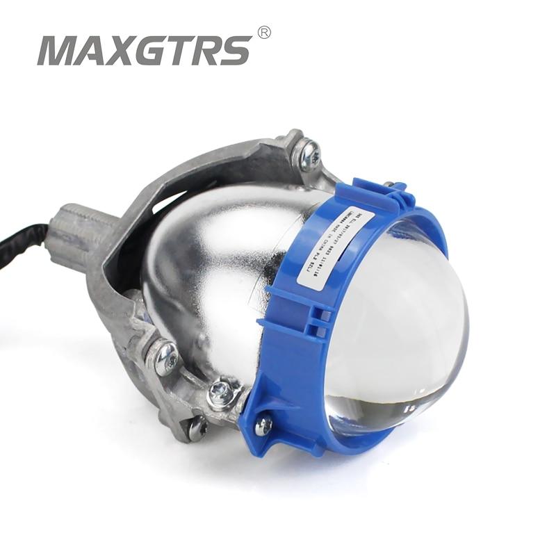 Pas cher Prix 2 pcs Bi LED Projecteur Phares Lentille Bleu/Noir 3 pouce LHD RHD Haut/Bas Faisceau bi-LED Projecteur Lentille LED H4 H7 Ampoule
