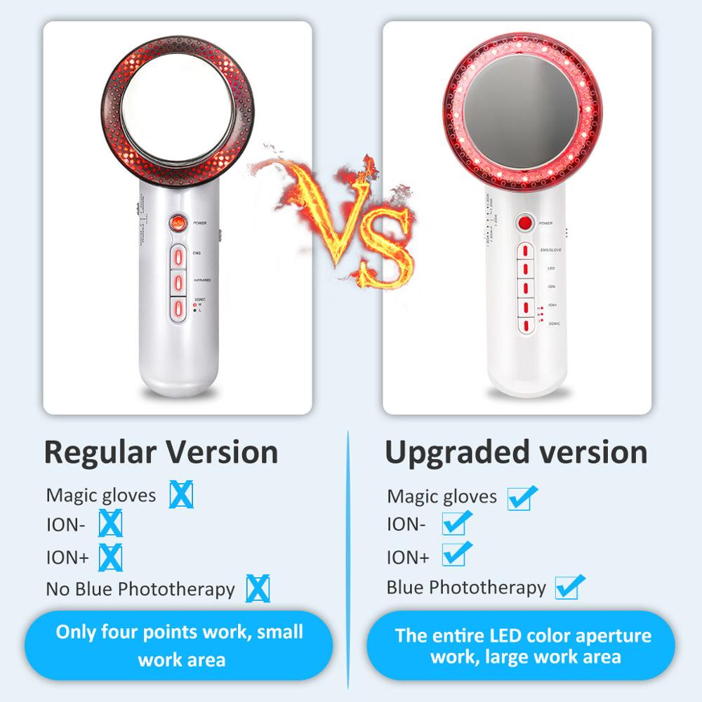 Image 5 - Ultrasonic EMS Body Facial Slimming Machine Anti Cellulite Remover Burn Fat Cavitation Weight Loss Face Massager Ultrasonido-in Face Skin Care Tools from Beauty & Health
