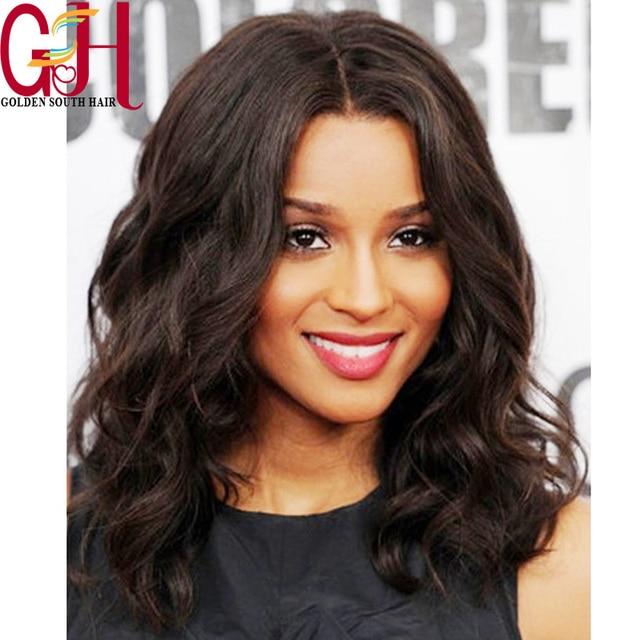 Ciara Inspired Medium Length Wavy Bob Styled Full Lace Human Hair Wig Brazilian