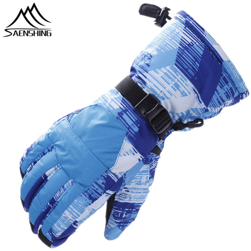 Bright shop Saenshing Men Women Winter Waterproof Snowboard Gloves Breathable Ski Gloves Super Warm Cotton Snow Mountain Climbing Glove