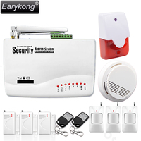 Free Shipping 3pcs Infrared Detector Door Magnetic Sensor Wireless Home Security Alarm Smoke Detector 433MHz Gsm