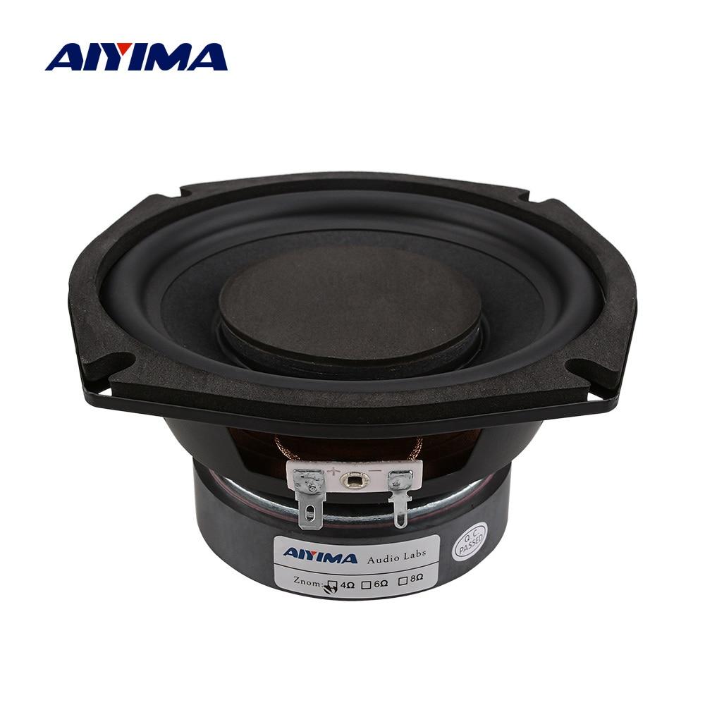 Aiyima 5.25 Polegada subwoofer alto-falante de áudio super power música altifalante 4 8 ohm 120 w estante diy som alto-falantes