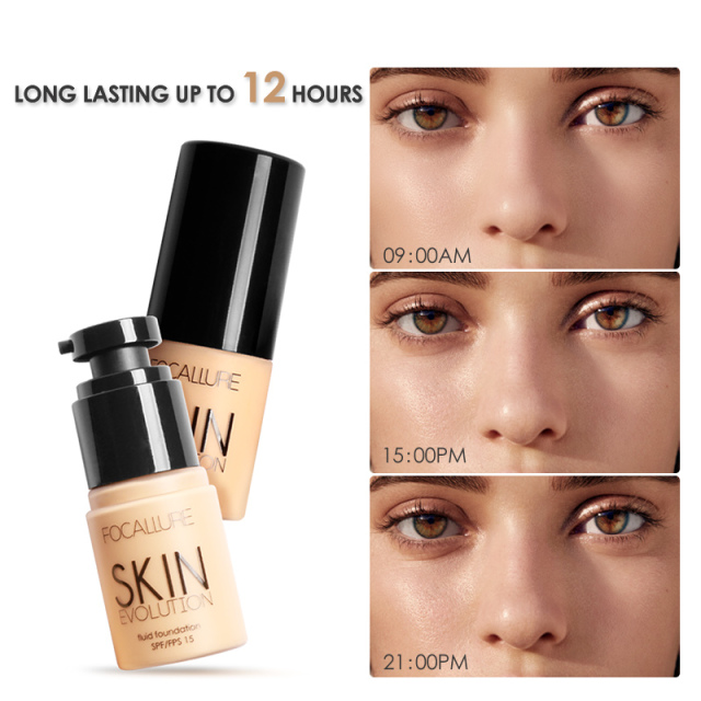 FOCALLURE Face Foundation Makeup Base Liquid Foundation BB Cream Concealer Whitening Moisturizer Oil-control Maquiagem SPF15 4