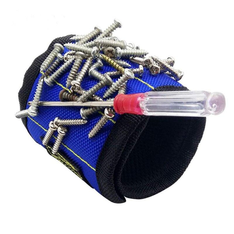 Tools Qualified Holder Wristband Holding Hand Tool Bag Bracelet Belt 370mm Nylon Wrist Strong Magnetic Nail Screw Drill Bit Car Auto Repair Kit