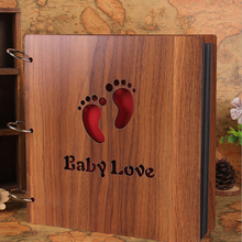 12 Inch  Wooden wedding album 2014 Sculpture Print Children Diy Photo Album Scrapbook Christmas Gift Handmade Baby Album Photo