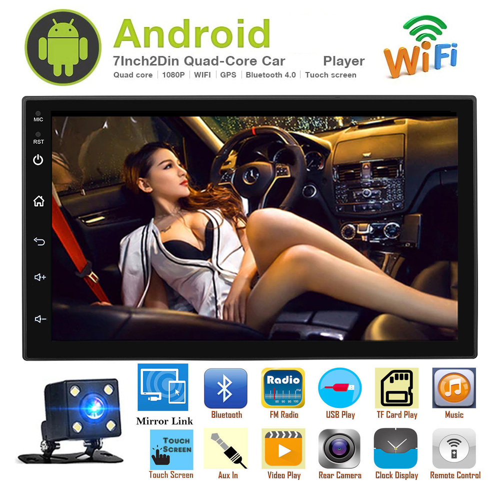 Multimedia-Player 2-Din android GPS Auto-Radio Touch-Screen Car-Stereo Bluetooth Wifi