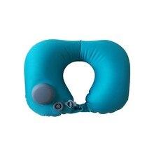 Portable U-Shape Inflatable Travel Pillow Car Head Rest Air Cushion for Travel Office Nap Head Rest Air Cushion Neck Pillow cute tiger u style car travel neck head cushion pillow brown black