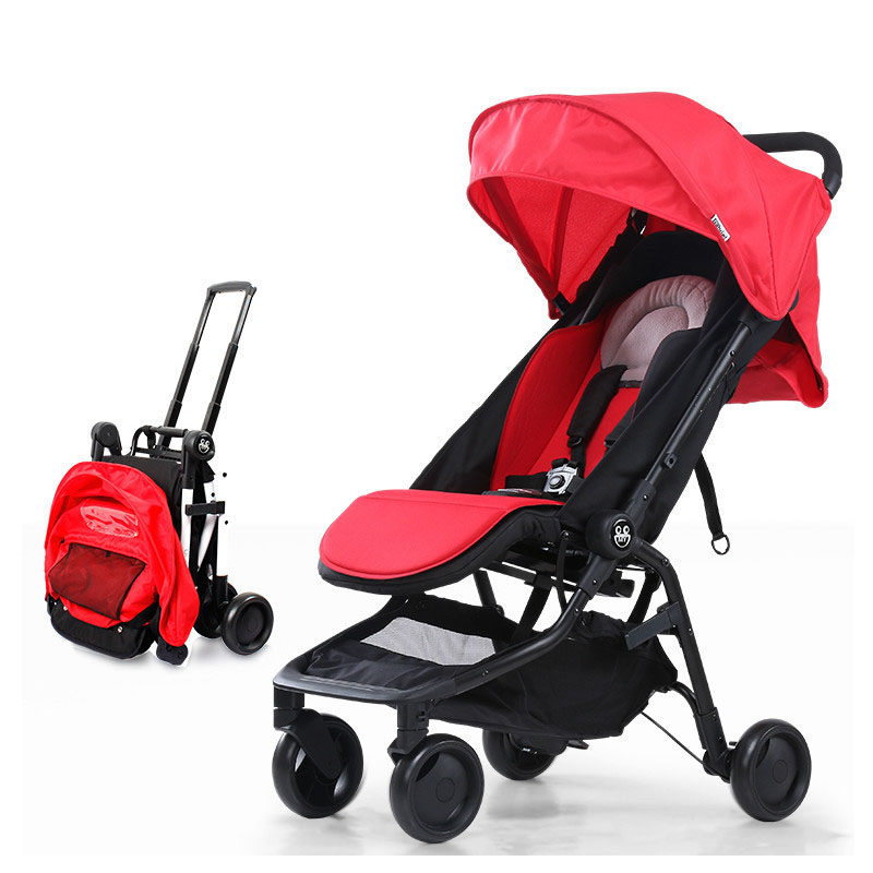 Portable Folding Light Baby Stroller Travel System Four Wheel High View Umbrella Can Lie Sit Jogging Baby Strollers Pram 0~5 Y fendi children кожаная куртка