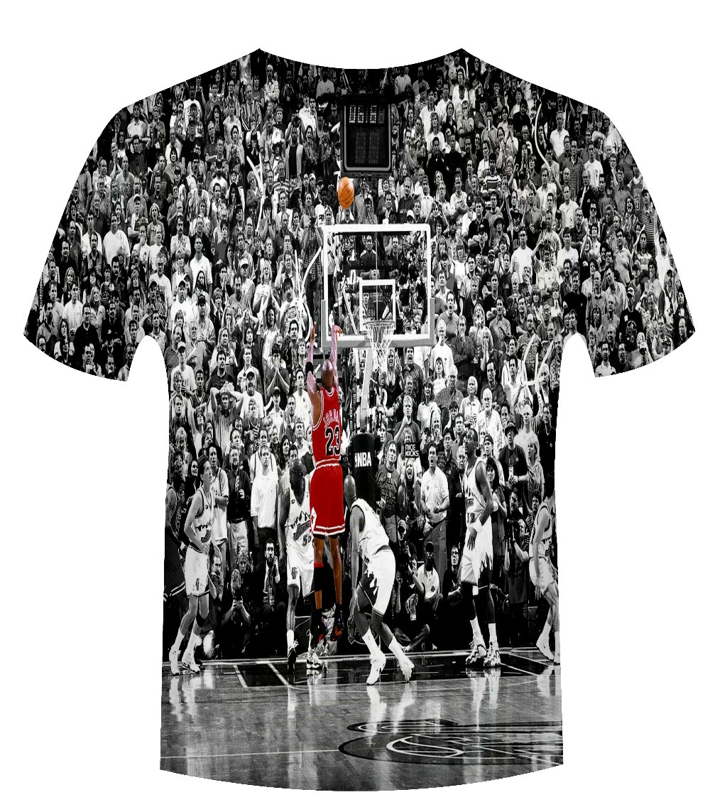 2015 sport clothing men t shirt michael jordan last shot. Black Bedroom Furniture Sets. Home Design Ideas
