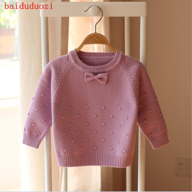 Brands Baby Girls Sweaters Winter 2017 New Girl Long