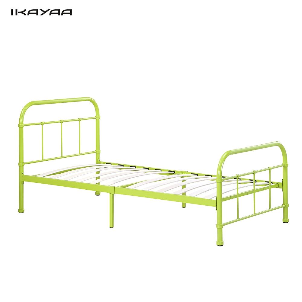 IKayaa 90*190 cm de Metal Marco de la Cama Listones De Madera para ...