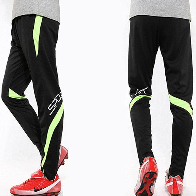 2018 Hombres Calientes pantalones de entrenamiento de fútbol profesionales Slim  Skinny deportes Survetement fútbol Running pantalones a8fa67501aa6