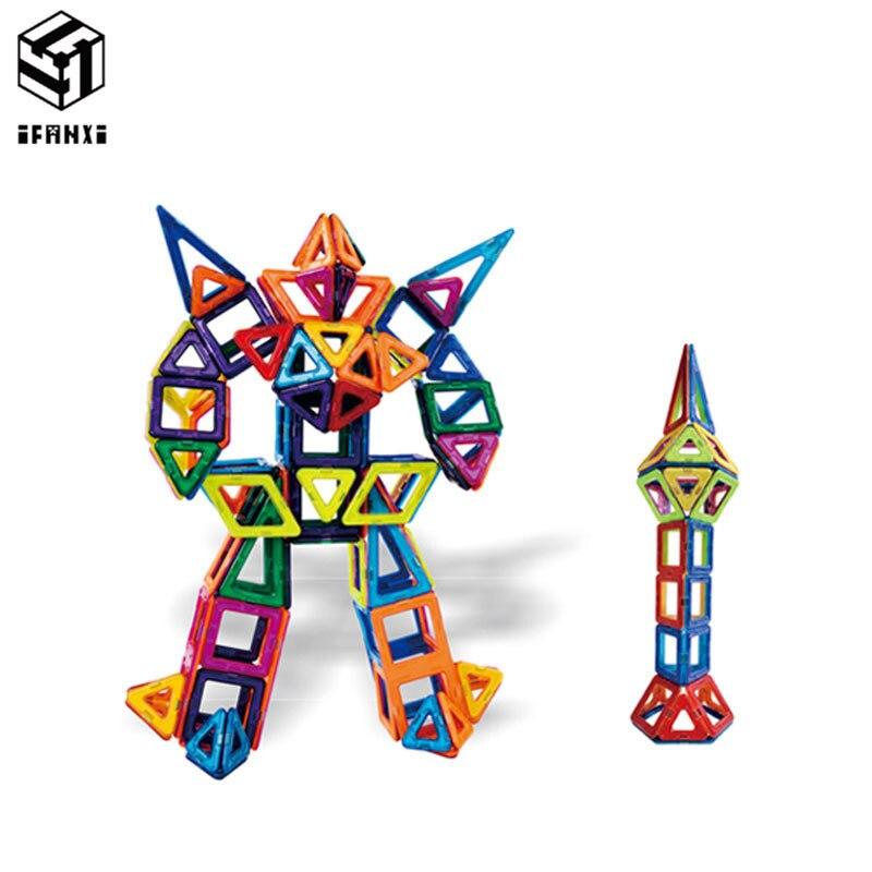 152pcs MAG VARIETY DIY Plastic Mini Magnetic Building Blocks Construction Model Educational Enlighten Assembly Toys For Children