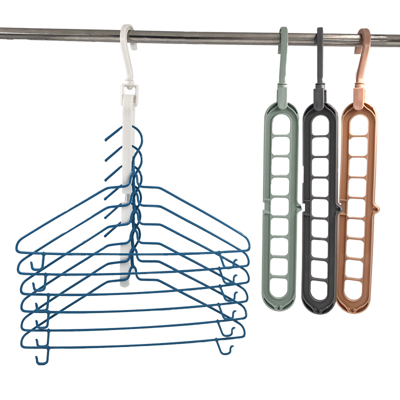 Multi-PORT สนับสนุนวงกลมแขวนเสื้อผ้าเสื้อผ้า Drying Rack Multifunction Space Hanger Magic แขวนเสื้อผ้า