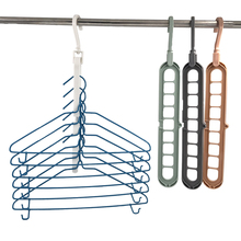 Multi-port Support Circle Clothes Hanger Drying Rack Multifunction Space Saving Magic