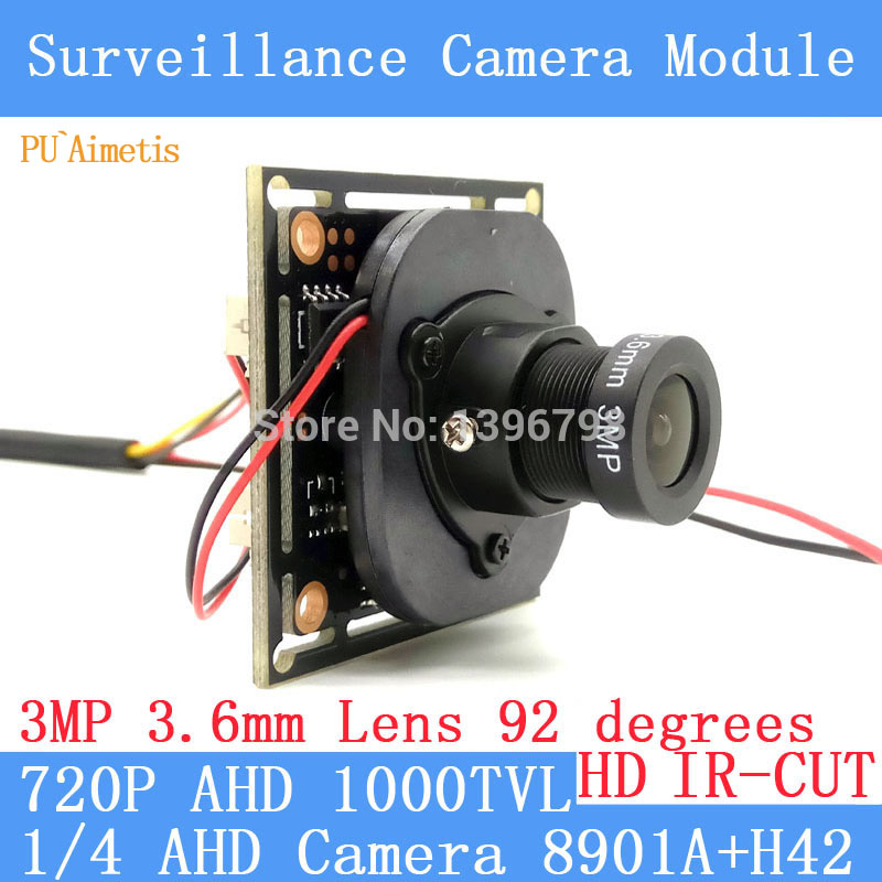 PU`Aimetis 4in1 1000TVL AHD CCTV Camera Module 3MP 3.6mm Lens+PAL or NTSC Optional surveillance camera IR-CUT dual-filter switch smar home security 1000tvl surveillance camera 36 ir infrared leds with 3 6mm wide lens built in ir cut filter