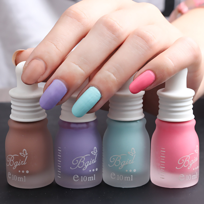 Candy Color Nail Polish: Frosted Matte Nail Polish Bottle Candy Color Gel Vernis
