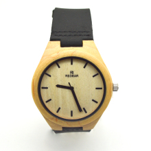 Classic round wrist Watch maple wood men's watches top brand luxury wooden bamboo Watch