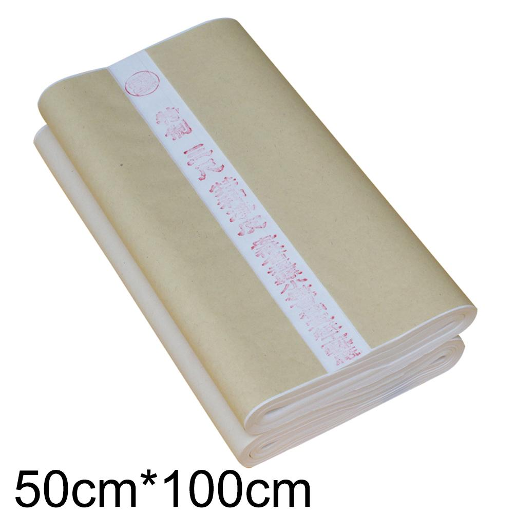 100Pcs 50x100cm Chinese Painting Calligraphy Draw Raw Rice Xuan Paper Stationery 100Pcs 50x100cm Chinese Painting Calligraphy Draw Raw Rice Xuan Paper Stationery
