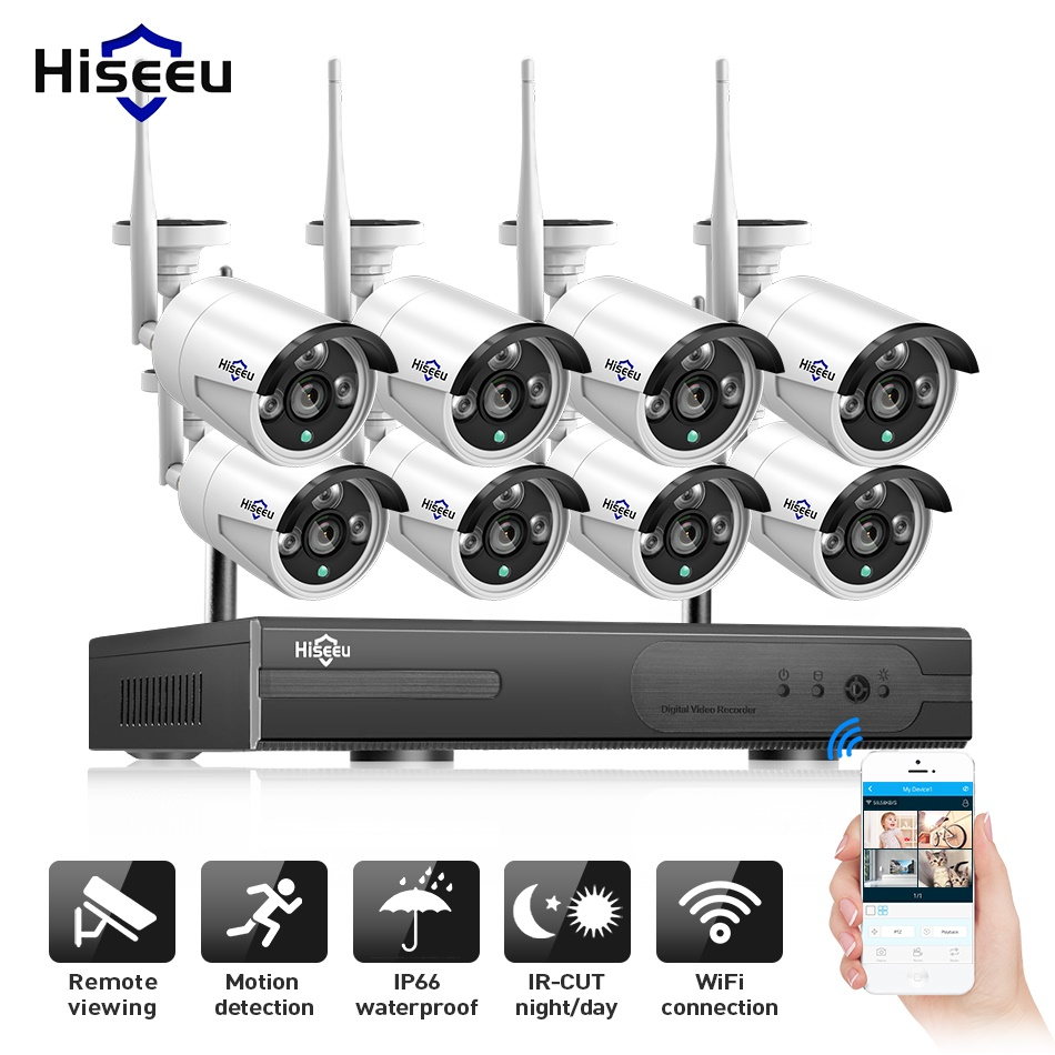 2MP 1080P CCTV System 8ch HD Wireless NVR kit 3TB HDD Outdoor IR Night Vision IP Wifi Camera Security System Surveillance Hiseeu кукла lalaloopsy белоснежка 32 см 035051535676