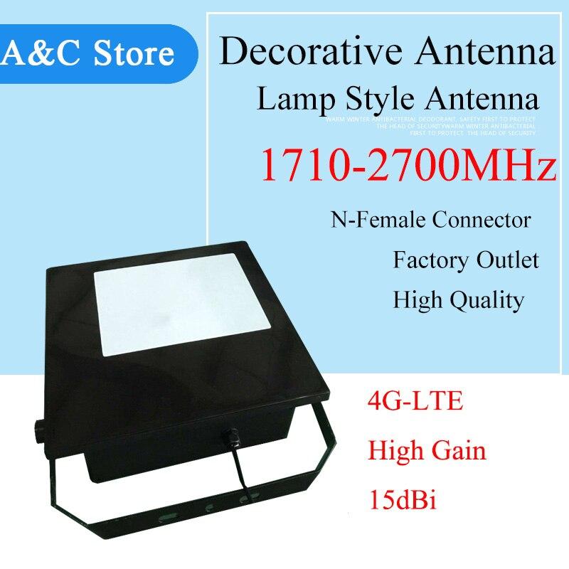 Antenne décorative 4g antenne directionnelle 1710 ~ 2700 MHz antenne style lampe 15dbi pour antenne 3g 4g-LTE