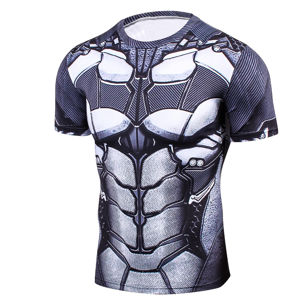 Newest Batman 3D PrintedT-Shirt Men  Compression Shirt