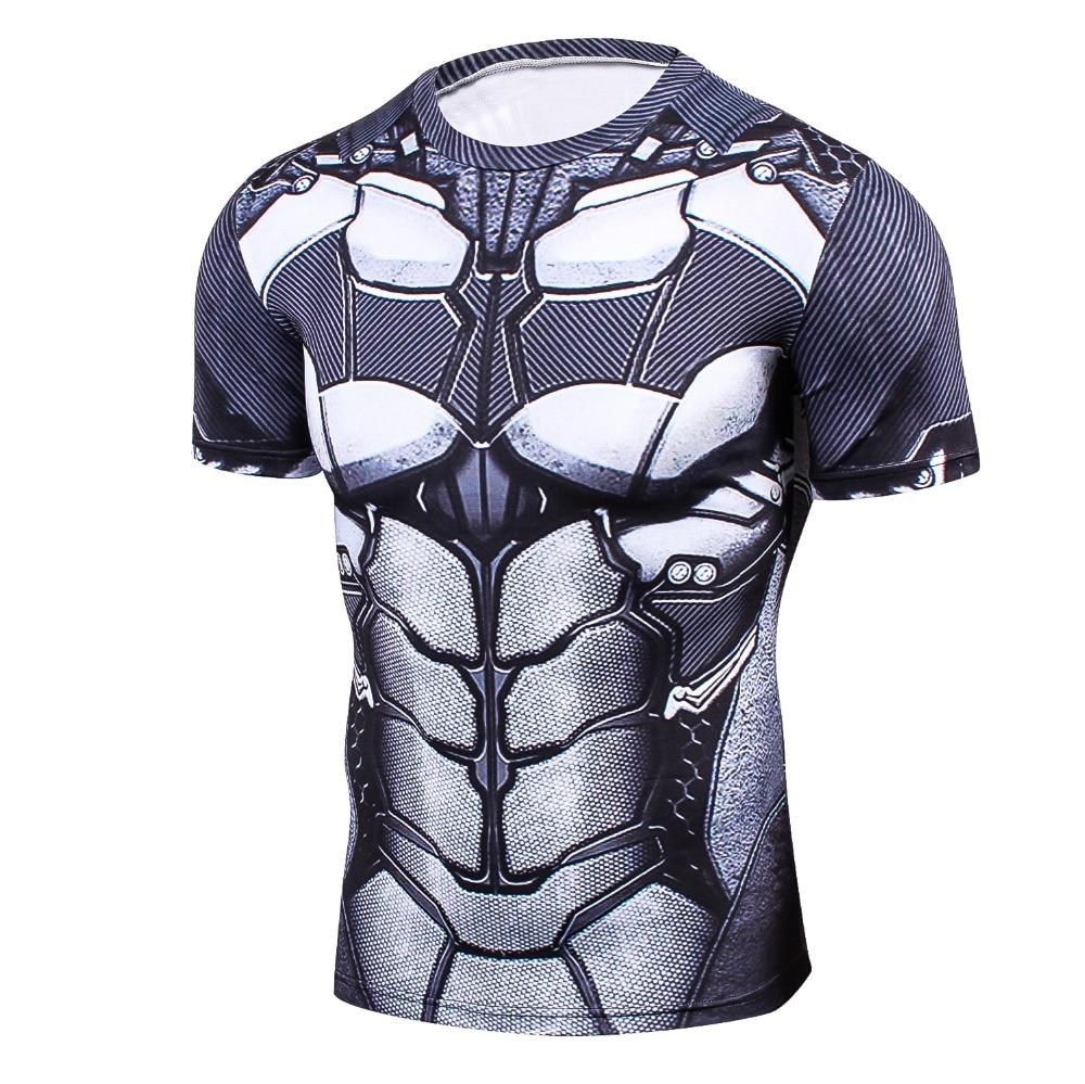 Newest Batman 3D PrintedT-Shirt Men  Compression Shirt