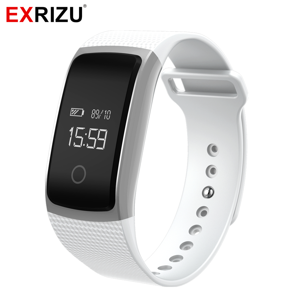 EXRIZU A09 Sports Smart Wristband Pedometer Fitness Bracelet Blood Pressure Meter Heart Rate Monitor Activity Tracker