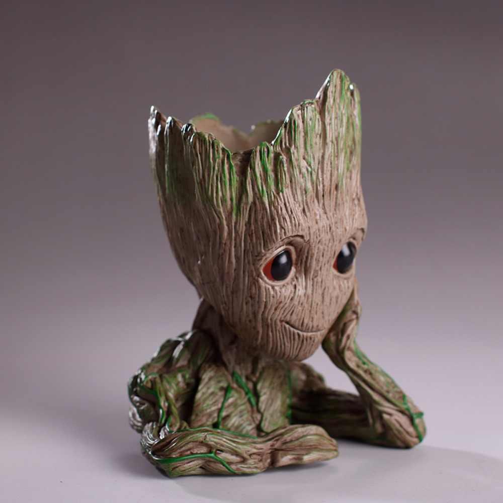 Baby Groot Blumentopf Blumentopf Pflanzer Action-figuren Spielzeug Baum Mann Nette Modell Spielzeug Stift Topf Halter Pflanzen Topf Blumentopf deocr