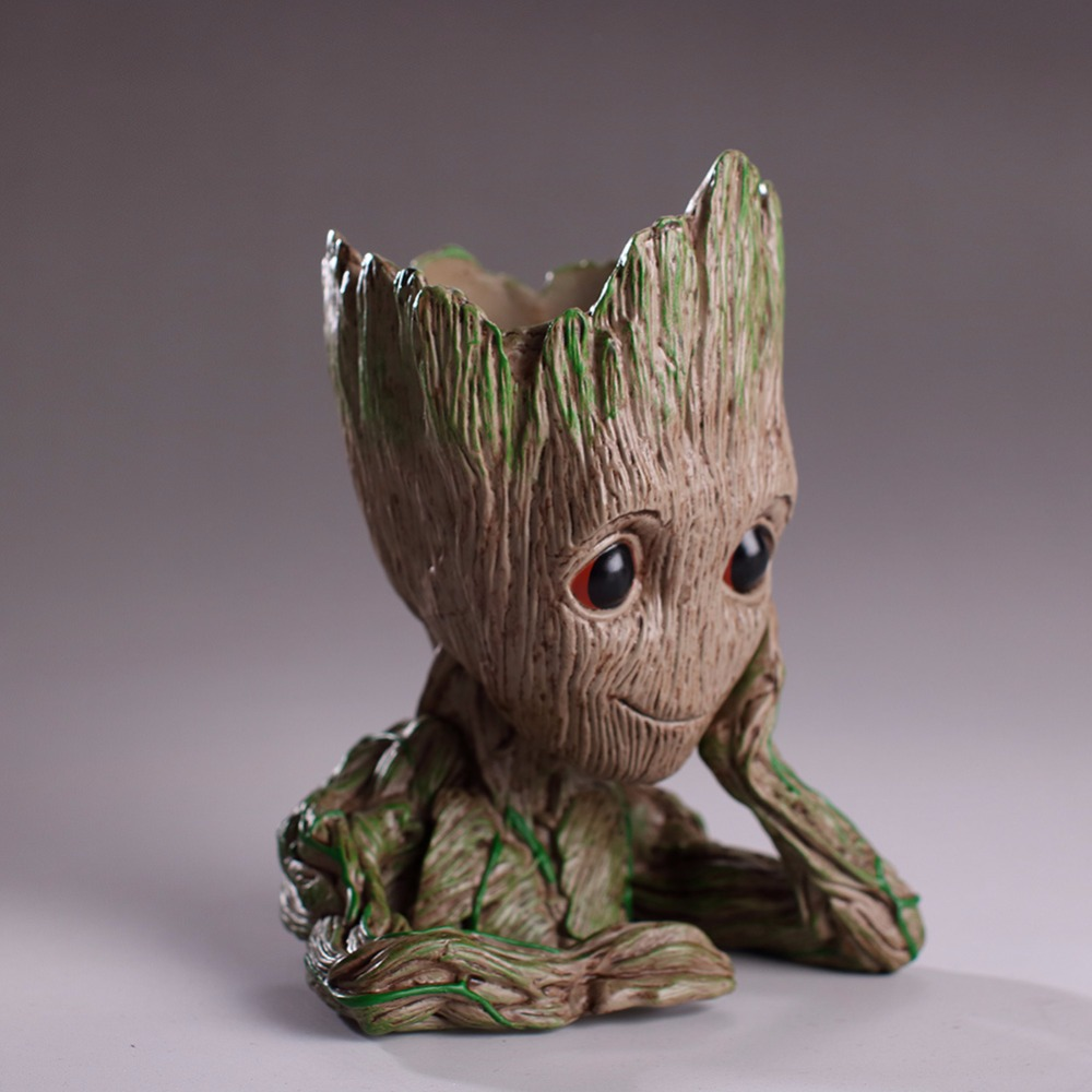 Us 4 18 49 Off Baby Groot Flowerpot Flower Pot Planter Action Figures Guardians Of The Galaxy Toy Tree Man Cute Model Toy Pen Pot Drop Shipping In