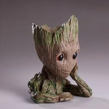 Groot Flowerpot Flower Pot Planter Action Figures Guardians Galaxy Tree Pen