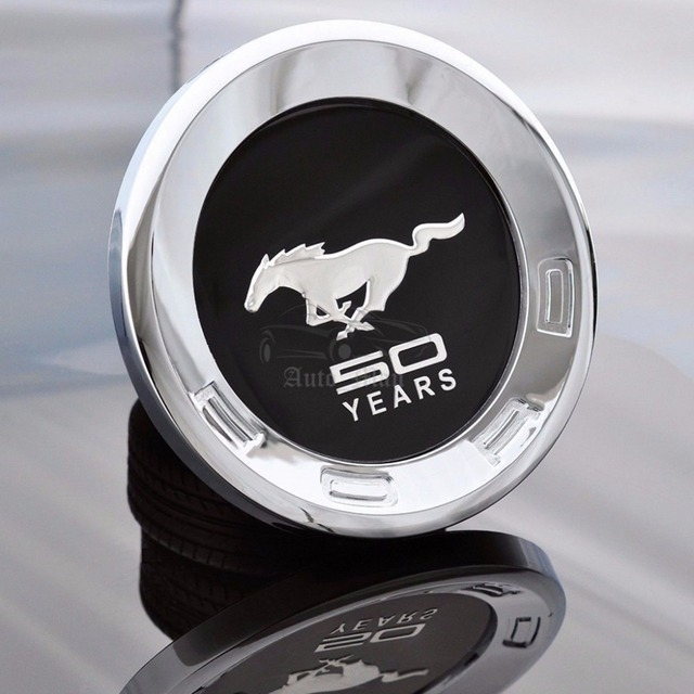 ford mustang 50 jaar Car Auto 3D Paard Stijl Achter Embleem ABS Staart Badge Sticker  ford mustang 50 jaar
