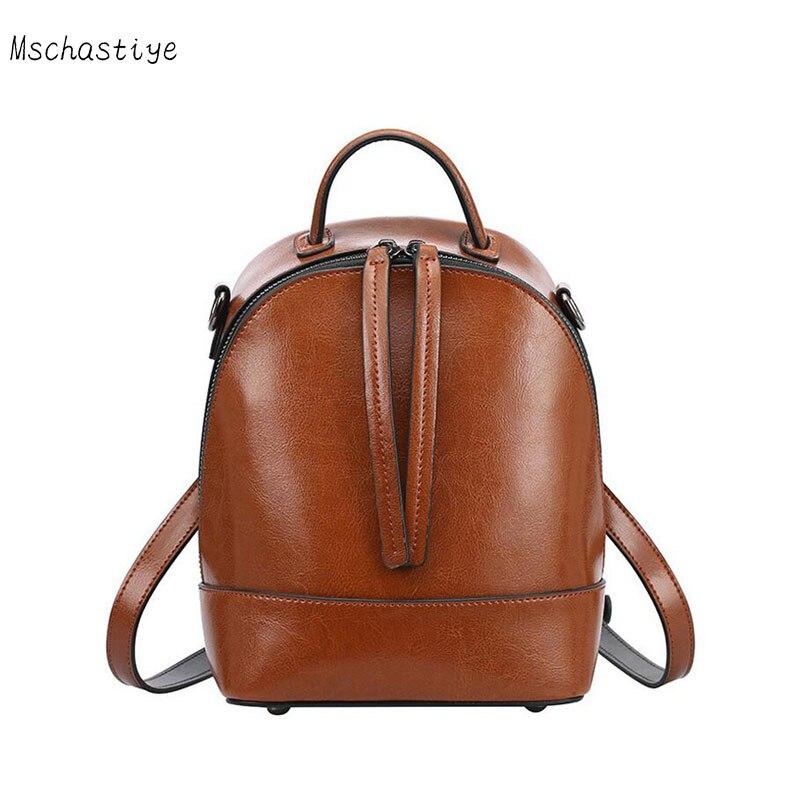 women backpack genuine leather school backpacks for teenage girls shoulder bag Female Fashion Backpacks Mschastiye 2018 brand цены
