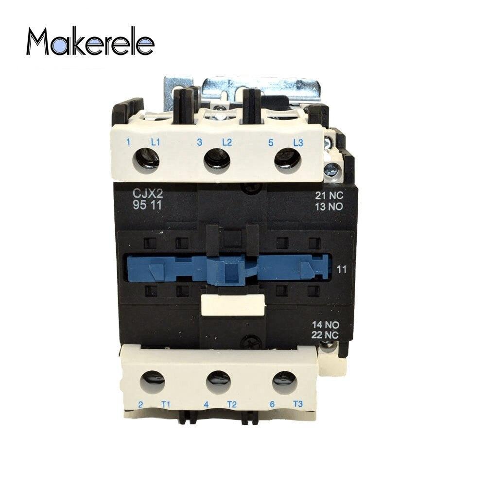 CJX2-2510 AC Contactor AC110V 50//60Hz Coil 25A 3-Phase 3-Pole 1NO
