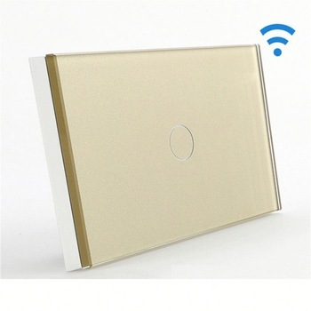 Bseed Wireless Touch Switch 1 Gang 1 Way Touch Dimmer With Remote Control Gold Dimmable Switch Us AuBseed Wireless Touch Switch 1 Gang 1 Way Touch Dimmer With Remote Control Gold Dimmable Switch Us Au
