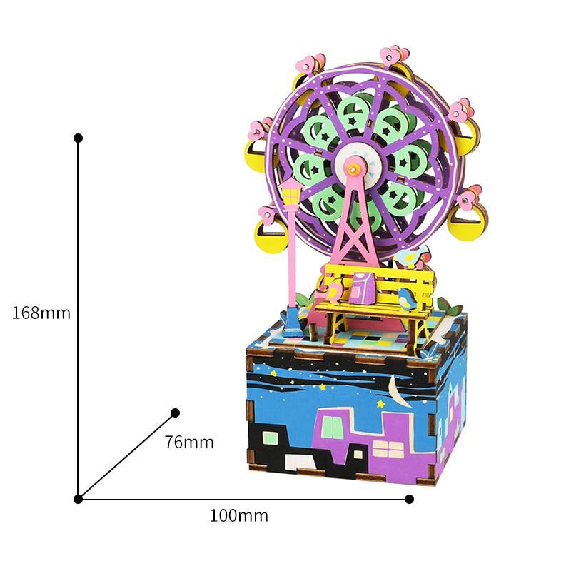 Free-Shipping-Robotime-3D-Puzzle-DIY-Cool-Mechanism-Gift-Wooden-Greeting-Souvenir-Birthday-Present-Music-Box