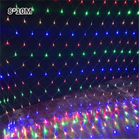 DHL Waterproof LED Net Light 8*10M 8 kinds of patterns weaving string lights Christmas lights Holiday light Garden Lamps