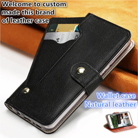 YM13 Wallet Natural Leather Flip Case For Meizu 15 Phone Case For Meizu 15 Flip cover Free Shipping